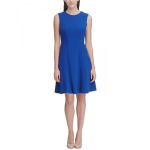 NEW Tommy Hilfiger Fit & Flare Dress Marine Blue 6